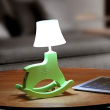 Cloud Forest - Wooden Horse Desk Lamp