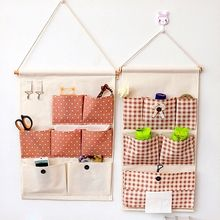 Showroom - Stripe Linen Cotton Hanging Organizer