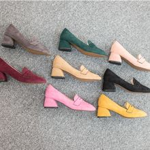VIVIER - Faux-Suede Colored Loafers