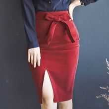 Aurora - Bow-Accent Pencil Skirt