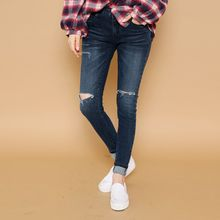 Envy Look - Cutout Washed Skinny Jeans