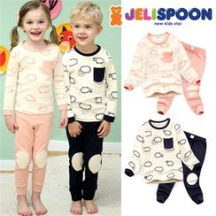 JELISPOON - Kids Pajama Set: Patterned Top + Pants