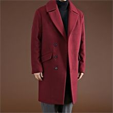THE COVER - Wide-Collar Wool Blend Coat