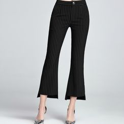 Sentubila - Pinstriped Boot Cut Pants