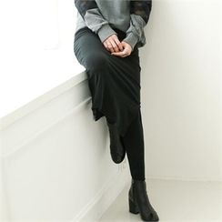 GLAM12 - Inset Long Skirt Leggings