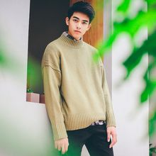 JUN.LEE - Loose Fit Mock Neck Sweater