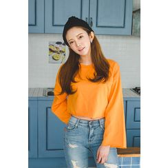 migunstyle - Round-Neck Cropped Top