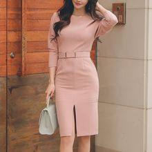 Aurora - Slit Sheath Dress