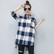 Fancy Show - Long-Sleeve Check Long Shirt