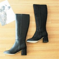 GLAM12 - Faux-Leather Long Boots
