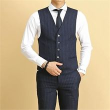 THE COVER - Welt-Pocket Pinstripe Vest