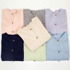 chuu - Round-Neck Colored Cardigan