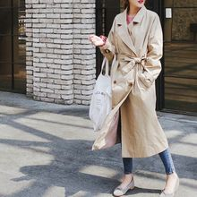 mimi&didi - Double-Breasted Trench Coat with Sash