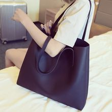 Rosanna Bags - Set: Faux Leather Tote + Cosmetic Bag