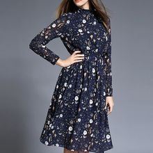 Hazie - Printed Midi Chiffon Dress