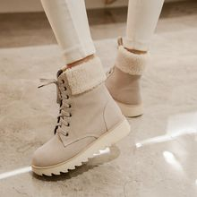 Pastel Pairs - Fleece Lined Lace Up Short Boots