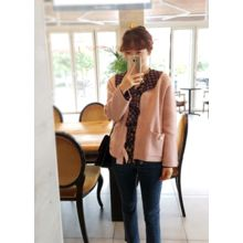 LEELIN - Wool Blend Knit Jacket