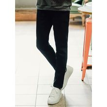 JOGUNSHOP - Fleece-Lined Straight-Cut Pants