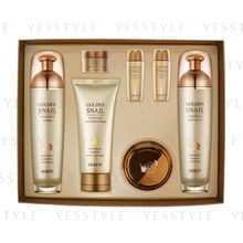 SKIN79 - Golden Snail Intensive Skin Care Set: Toner (130ml + 20ml) Emulsion (130ml + 20ml) + Cream (50g + 15g) + Foam 125ml
