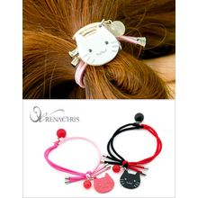 soo n soo - Cat-Charm Color-Block Hair Tie