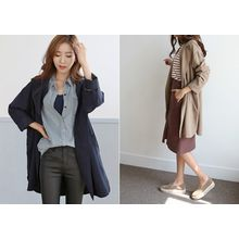Hello sweety - Notched-Lapel Open-Front Jacket