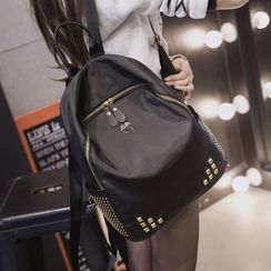 Suis MOI - Studded Canvas Backpack