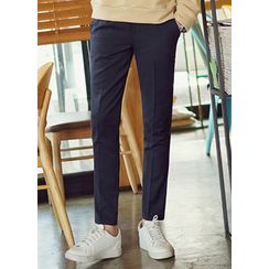 JOGUNSHOP - Band-Waist Straight-Cut Pants