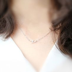Blinglitz - 925 Sterling Silver Flash Necklace