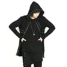 Rememberclick - Stud-Trim Zip-Up Hoodie