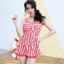 Anfory - Stripe Panel Swimdress