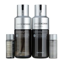 魔法森林家园 - Unide Homme Moisture Skincare Set: Skin 150ml +Lotion 150ml + Skin 20ml + Lotion 20ml