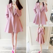 Ashlee - Plain Wool Coatdress