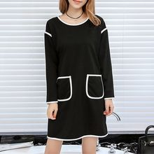 Q.C.T - Piped Long-Sleeve Dress