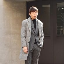 Superstar.i - Single-Breasted Houndstooth Coat