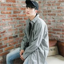 STYLEMAN - Oversized Check-Pattern Shirt Jacket