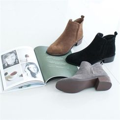 GLAM12 - Faux-Leather Ankle-Length Boots