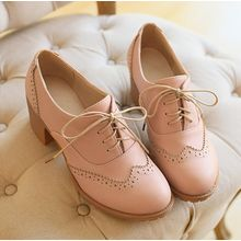 Freesia - Heel Brogue Oxfords