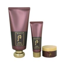 The History of Whoo 后 - Jinyulhyang Essential Foam Set: Essential Foam 180ml + Massage Mask 30ml + Moisturizing Cleanser 30ml