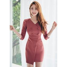 Chlo.D.Manon - Double-Breasted Mini Sheath Dress